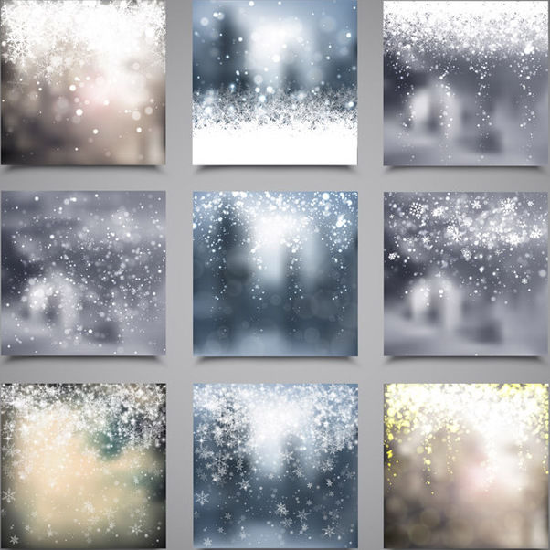 9 Christmas Backgrounds - Free vector #340787
