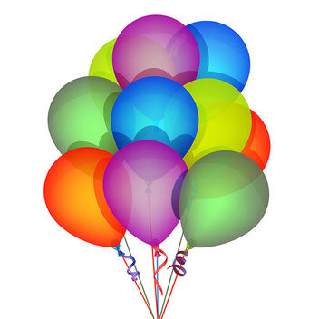 Vector Birthday Balloons - бесплатный vector #340817