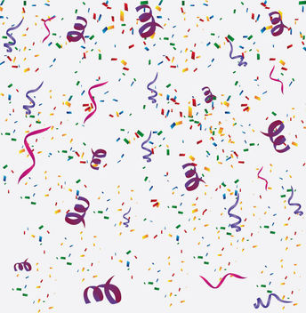 Confetti Background - Free vector #340827