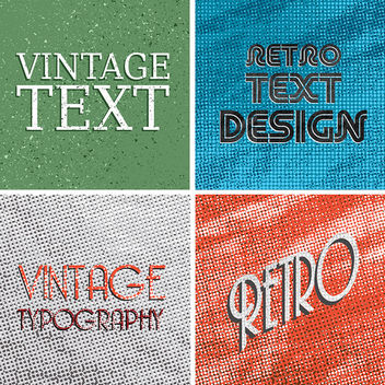 Retro Vector Backgrounds - Free vector #340897