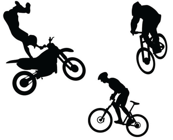 Bicycle Bmx and Motorcycle - бесплатный vector #340937
