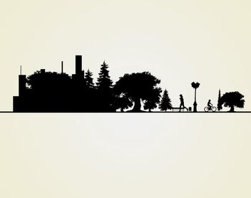 Cityscape Landscape Silhouette - vector #340967 gratis