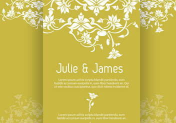 Wedding Invitation - vector gratuit #340987