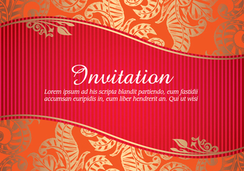 Floral Invitation Card - vector #341037 gratis