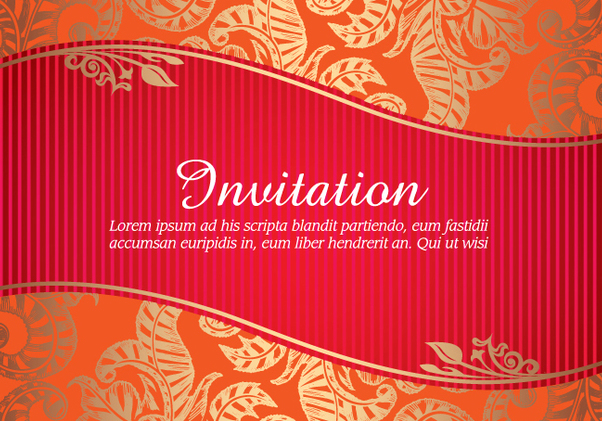 Floral Invitation Card - Kostenloses vector #341037