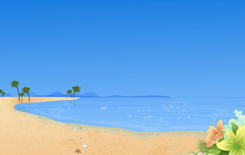 Summer Beach Wallpaper - Free vector #341057