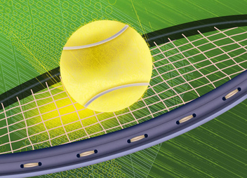 Tennis Racket Background - Kostenloses vector #341077
