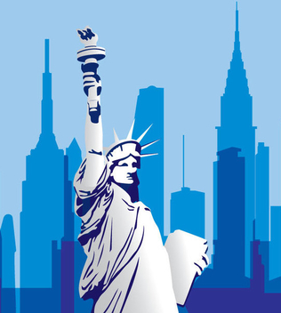 USA Monument Cityscape - Free vector #341097