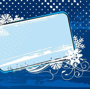 Snowflake Frame Winter Banner - Free vector #341197