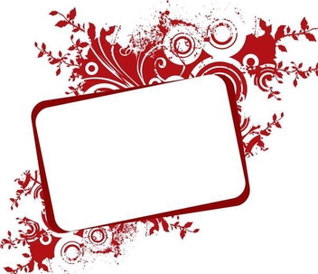 Romantic Red Floral Frame Banner - vector #341237 gratis