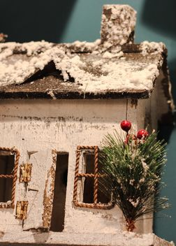 Close up of decorative Christmas house - image #341537 gratis