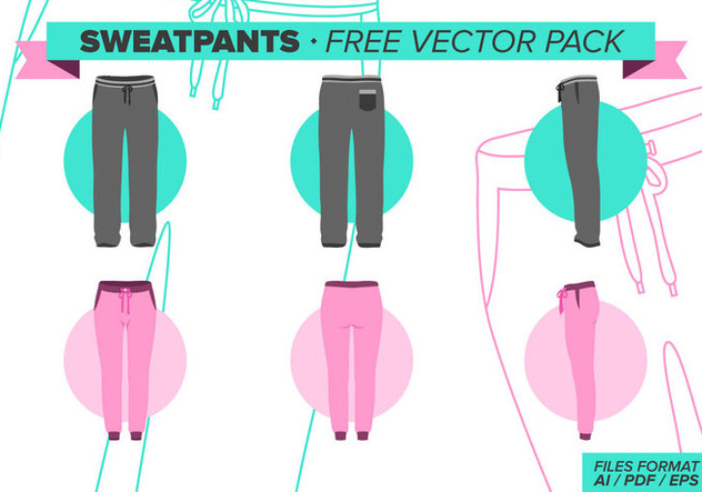 Sweatpants Free Vector Pack - vector #341577 gratis