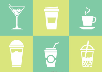 Beverages Isolated Icons - vector gratuit #341747