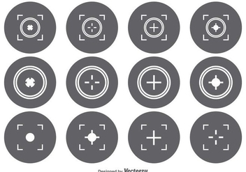 Viewfinder Icon Set - vector gratuit(e) #341757