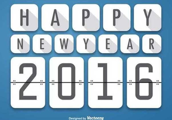 Happy 2016 Squares Background - vector gratuit #341817