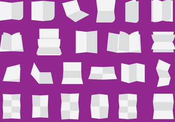 Folded And Flipped Paper Sheets - vector gratuit #341897