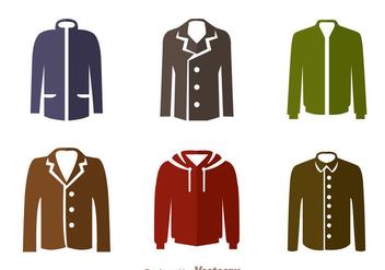 Jacket Flat Icons - vector #341977 gratis