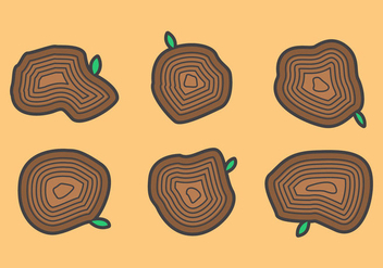 Free Tree Rings Vector Illustration #3 - Free vector #341987