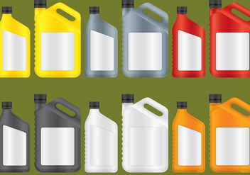 Oil Plastic Bottles - vector gratuit #342227