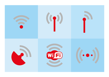 WiFi Logo and Symbols - vector #342337 gratis