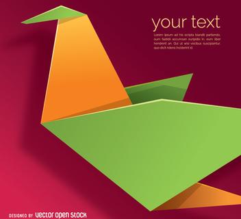 Paper bird in origami style - vector gratuit(e) #342417