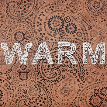 Word warm made of laced letters on vintage background - image gratuit #342537