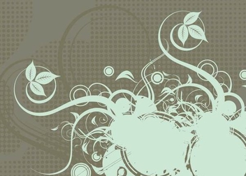 Growing Swirls Halftones Background - vector gratuit #342717