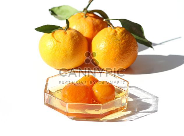 Greek Mandarin Jam and fresh mandarins - Free image #342887