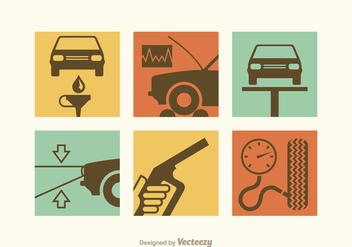 Free Car Repair Vector Icons - vector gratuit #342967