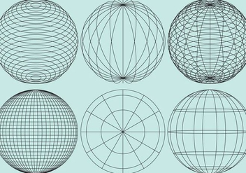 Globe Grids - Free vector #343197