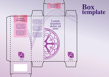 Perfume Box Design - vector gratuit #343237