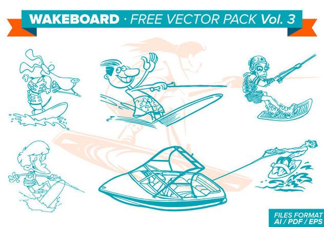 Wakeboard Free Vector Pack Vol. 3 - vector #343297 gratis