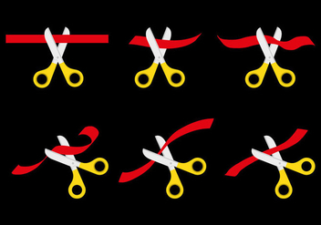 Ribbons Cutting Vector Set - vector gratuit #343357