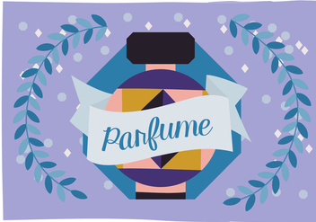 Free Perfume Vector Background Illustration - Free vector #343467
