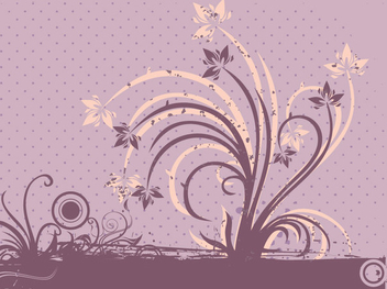 Grungy Floral Greeting Design - vector gratuit(e) #343477