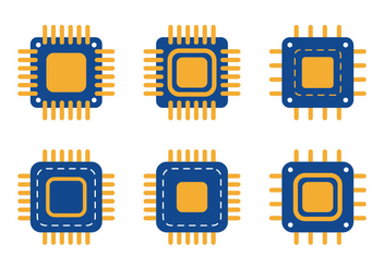 Microchip Icon - Free vector #343657