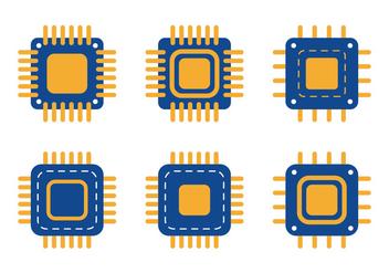 Microchip Icon - vector gratuit #343657