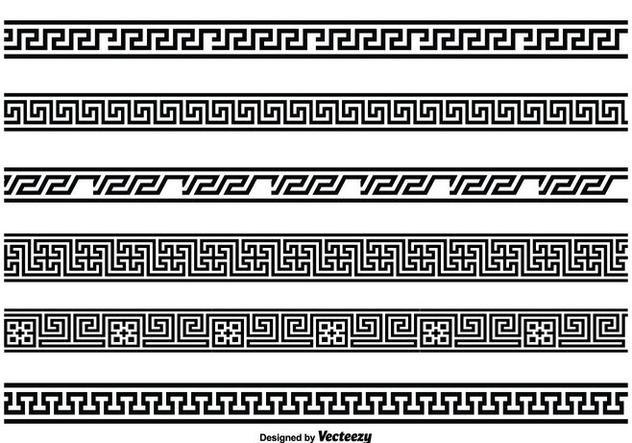 Greek Key Style Border Set Free Vector Download 343687 ...
