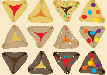 Hamantaschens Vectors - бесплатный vector #343717