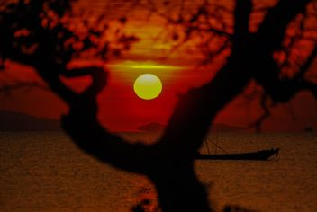 Dark orange sunset - Free image #344117