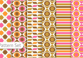 Colorful Retro Pattern design - vector gratuit #344287