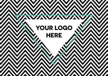 Free Optical Illusion Herringbone Logo Background - Free vector #344357