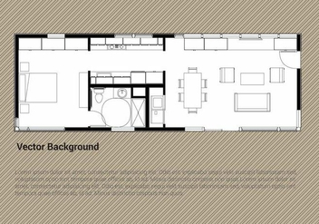 Free House Plan Vector - vector gratuit #344707