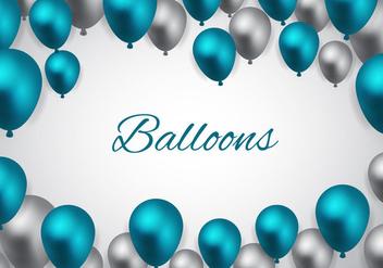 Free Blue Balloons Vector - Kostenloses vector #344717