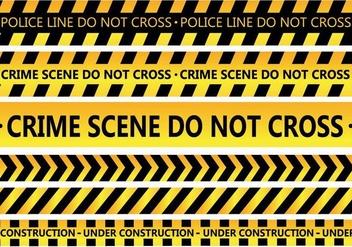 Police Line Vector - Free vector #344807