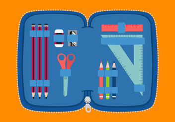 Pencil Case - vector gratuit #344907