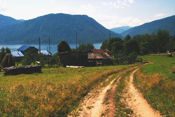 View on houses in Altai mountains - image gratuit #345077