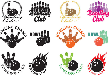 Bowling Logos - бесплатный vector #345157