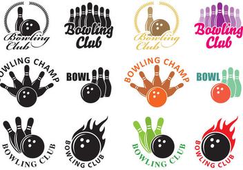 Bowling Logos - vector #345157 gratis