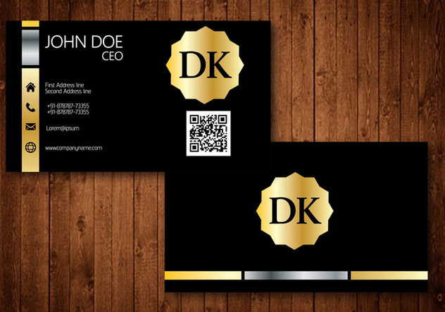 Golden Business Card - Free vector #345207
